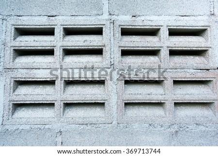 Wall of Cement bricks. - stock photo