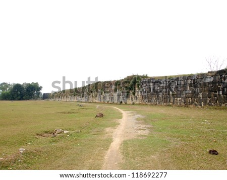 Wall of Citadel of the Ho Dynasty in Thanh Hoa, Vietnam