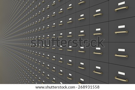 Wall of Filing cabinet - stock photo