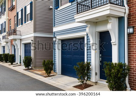 Wall of modern apartment building in Vancouver, BC, Canada - stock photo