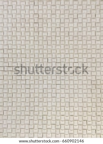 Wall Of Off White Ceramic Tiles With Lighting Shone On It Textured Background