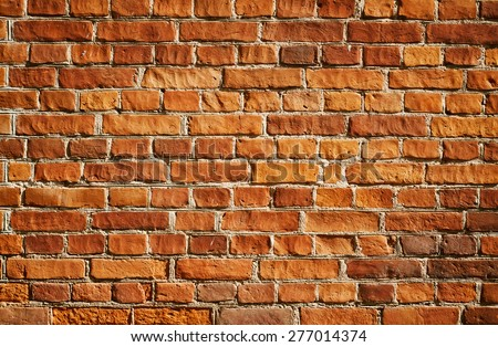 wall of old brick for vintage background