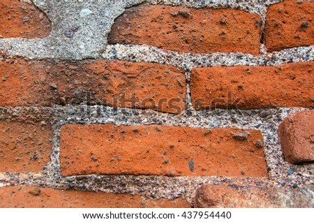 Wall of old bricks. Stone texture background. - stock photo
