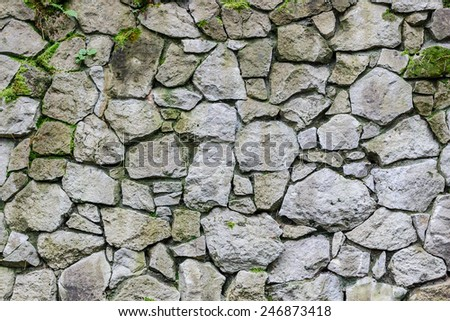 Wall of old stone. Texture laid stone surface. - stock photo