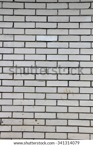 Wall Of Simple Grey Bricks As Background Or Texture Vertical Orientation