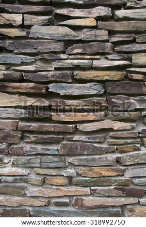 wall of stone - stock photo