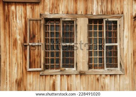 wall of the farmhouse - 4 - stock photo