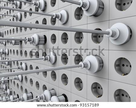 wall of the socket - stock photo