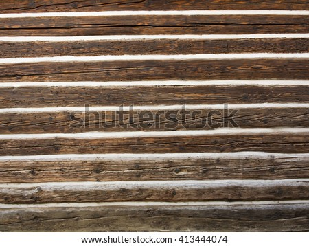Wall of the timbered cottage - wood texture