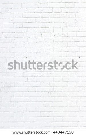 Wall of white bricks
