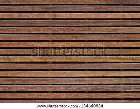 wall of wooden planks - stock photo