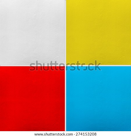 wall paint of collection set - stock photo