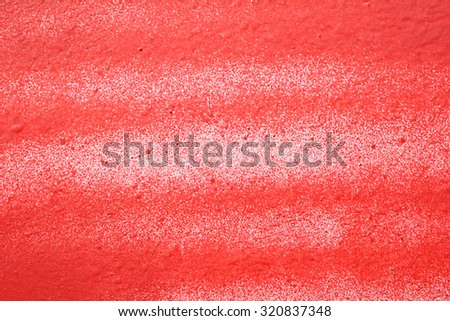 Wall, painted red pink paint - stock photo