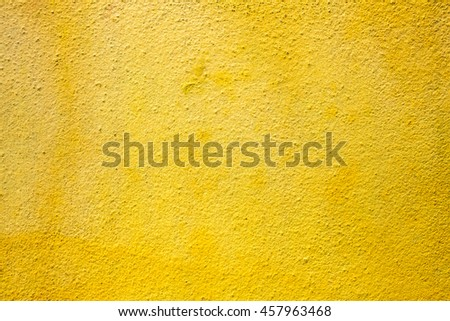 wall painted yellow