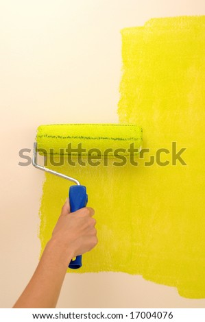 Wall painting - yellow