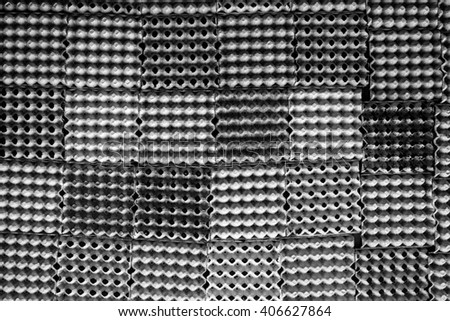 Wall panels, eggs, black and white