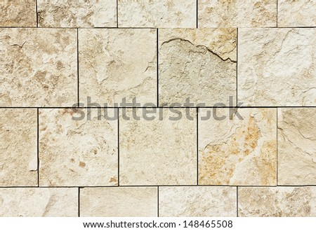 Wall pattern made out of concrete stone. - stock photo