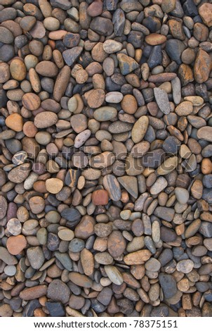 wall pattern of gravel stone - stock photo