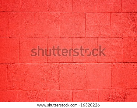 Wall plaster cement, red squares, as a background