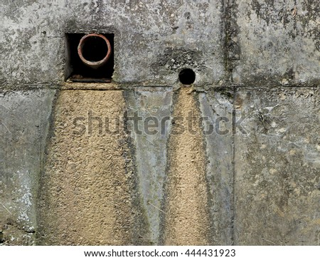Wall river - of sewage outlet - oxidation