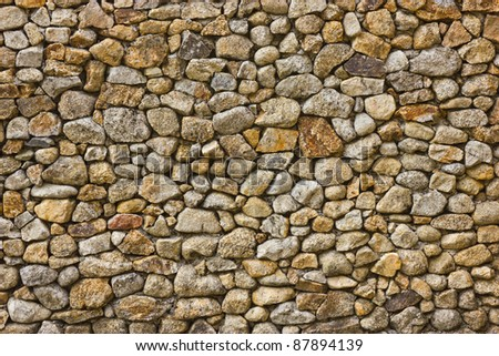 wall rock texture background - stock photo