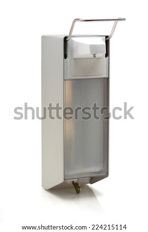 Wall soap dispenser isolated on white background