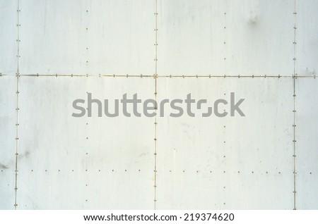 Wall steel metal plate background / Wall steel metal plate - stock photo