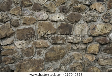wall stone colour brown is background for text - stock photo