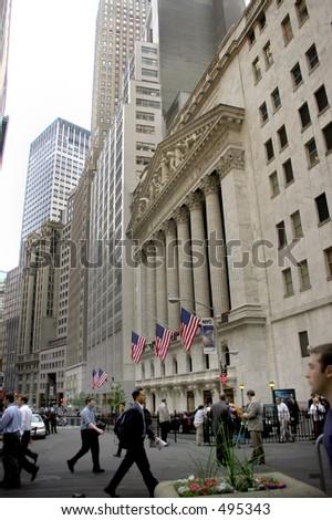Wall Street - stock photo