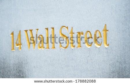Wall street gold script - stock photo