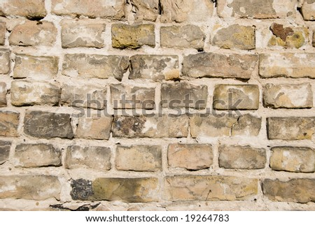 Wall texture background. Destroyed. - stock photo