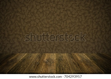 Wall texture background surface natural color , process in vintage style with wood terrace