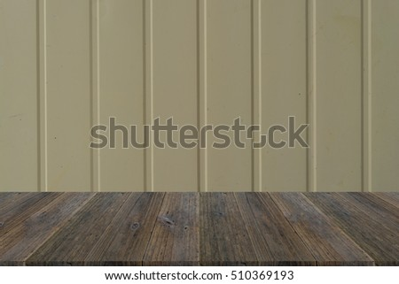 Wall texture surface natural color use for background with Wood terrace
