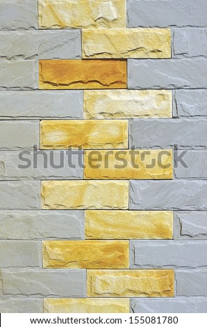 Wall tiling. - stock photo