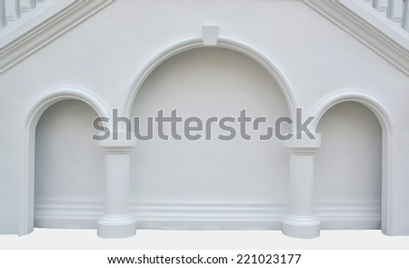 wall white and pillar isolate
