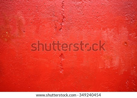 wall with a faded red  paint color - stock photo