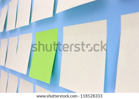 Wall with Adhesive Note in Office
