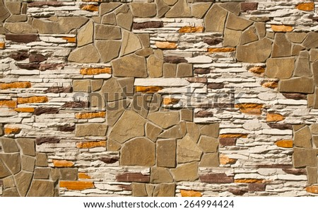 wall with colour stones as background - stock photo