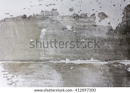 Wall with cracked paint texture - stock photo