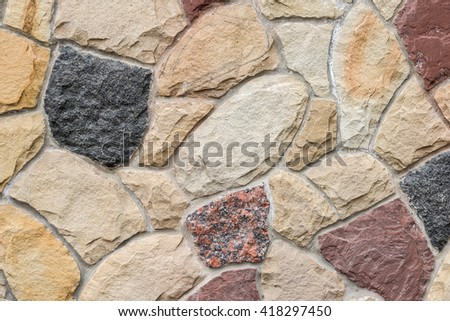 wall with nature stone