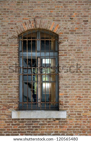 Wall with window in italy - stock photo