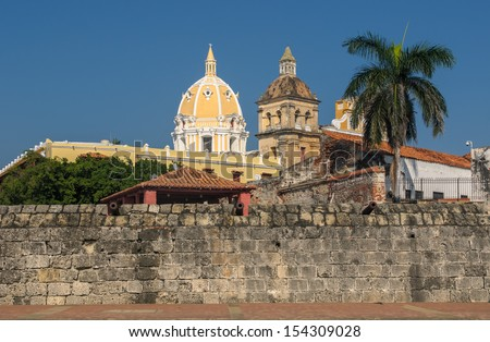 Walled town of Cartagena, Colombia - stock photo