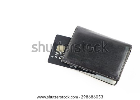 Wallet card and black credit card