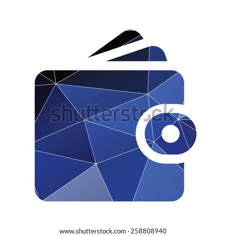 Wallet icon Abstract Triangle Geometrical background