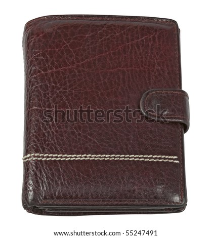 wallet,isolated on white with clipping path