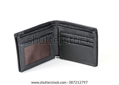 Wallet on a white background