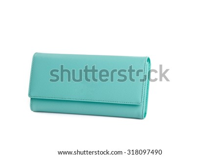 wallet or purse woman (green colour) on a background