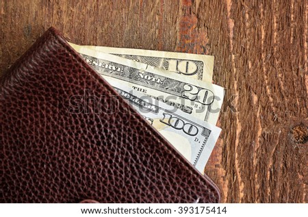 Wallet with American Money - stock photo