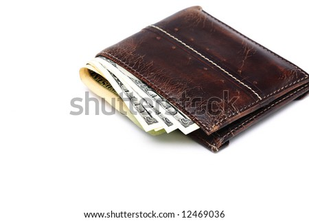 Wallet with couple of $100 dollar bills
