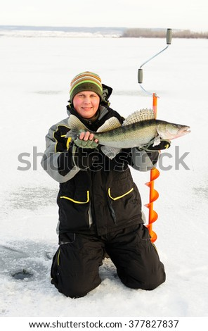 Walleye Winter fishing